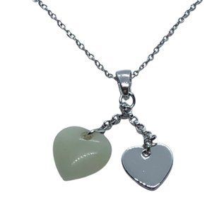 """18"""" Sterling Silver Heart Pendant Chain Necklace"""